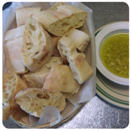 Fresh Baked Bread with Olive Oil & Garlic at Eddie's Italian Restaurant