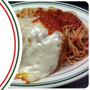 Chicken Parmigiana at Eddie's Italian Restaurant